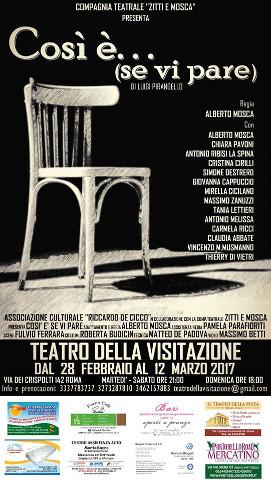 """""""Così è… se vi pare"""" al Teatro della Visitazione di Roma"""