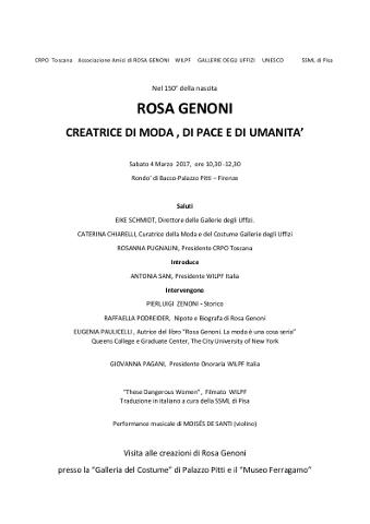 Firenze dedica una giornata di studio a Rosa Genoni