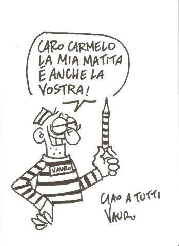 vignetta di Vauro per i detenuti