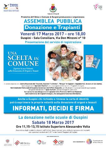 Doppio appuntamento a Guspini per promuovere la donazione di organi