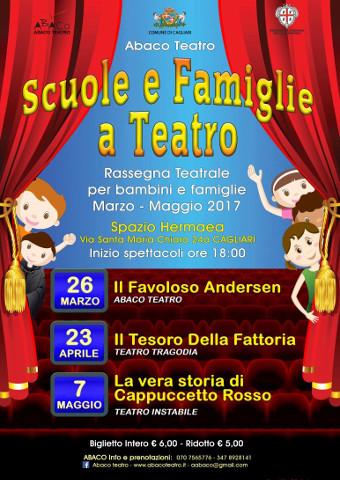 """La rassegna di Abaco """"Scuole e Famiglie a Teatro"""" a Cagliari"""