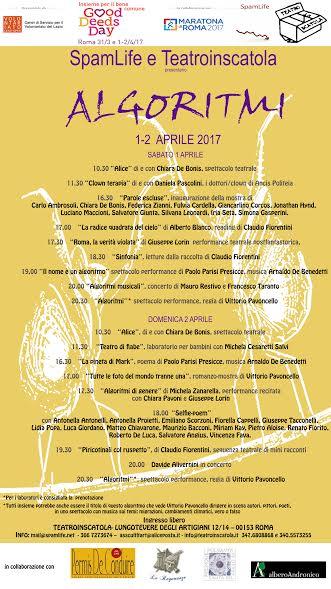 """Roma: due giorni di eventi con """"Algoritmi"""" al Good Deed Days"""