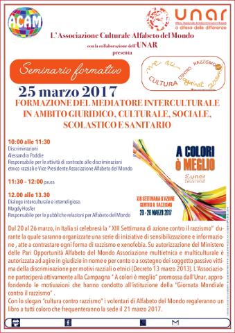 """""""Cultura contro il razzismo"""" a Cagliari"""