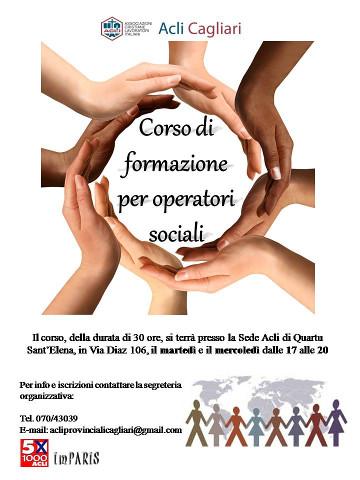 Corso di formazione per volontari e operatori sociali a Quartu S. Elena
