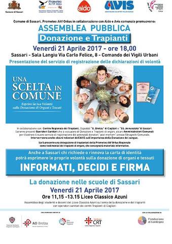 Weekend di promozione della donazione di organi nel Sassarese