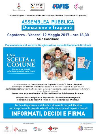assemblea su donazione di organi a Capoterra