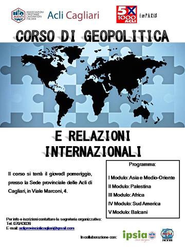 corso di geopolitica a Cagliari