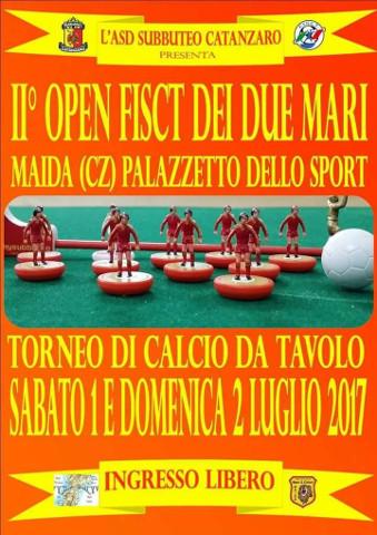 Calcio da tavolo: secondo Open dei due Mari a Maida