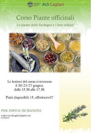 corso su piante officinali a Cagliari