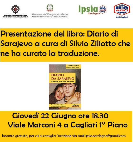 """Presentazione del libro """"Diario di Sarajevo"""" a Cagliari"""