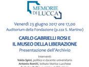presentazione archivio Museo Liberazione di Lucca