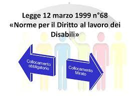 Legge 68 del 1999