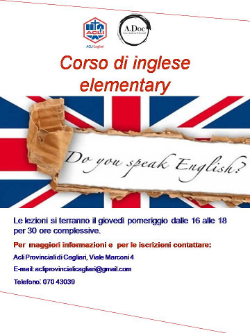 Corso di inglese di livello elementare a Cagliari