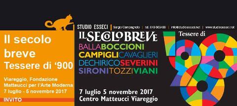 """Mostra sugli artisti del """"secolo breve"""" a Viareggio"""