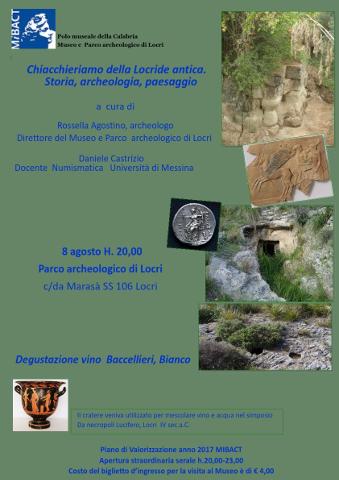 """""""Chiacchieriamo della Locride antica"""": evento a Locri"""