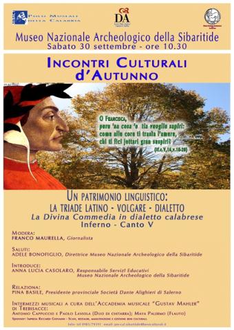 """""""Incontri Culturali d'Autunno"""" a Cassano allo Ionio"""