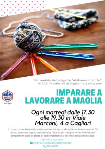 A Cagliari si impara a lavorare a maglia