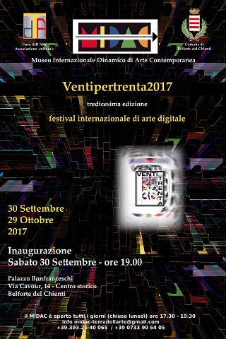 """Il festival di arte digitale """"ventipertrenta2017"""" a Belforte del Chienti"""