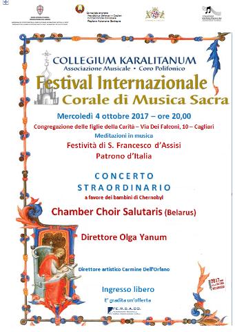 """Concerto del coro """"Salutaris"""" di Minsk a Cagliari"""