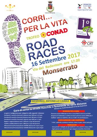 """Sport e solidarietà a Monserrato con """"Corri per la vita"""""""
