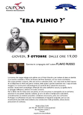 """""""Era davvero Plinio il Vecchio?"""" Flavio Russo prova a rispondere a Pompei"""