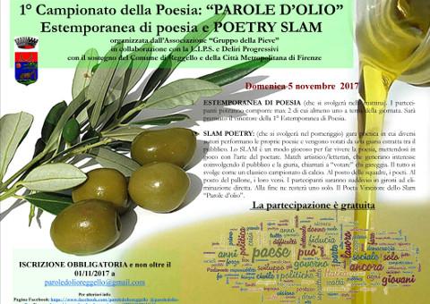 """1° Campionato della poesia """"Parole d'olio"""""""