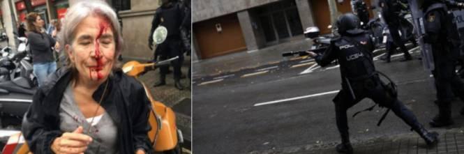 Catalogna: scontri con la polizia ai seggi elettorali 460 feriti
