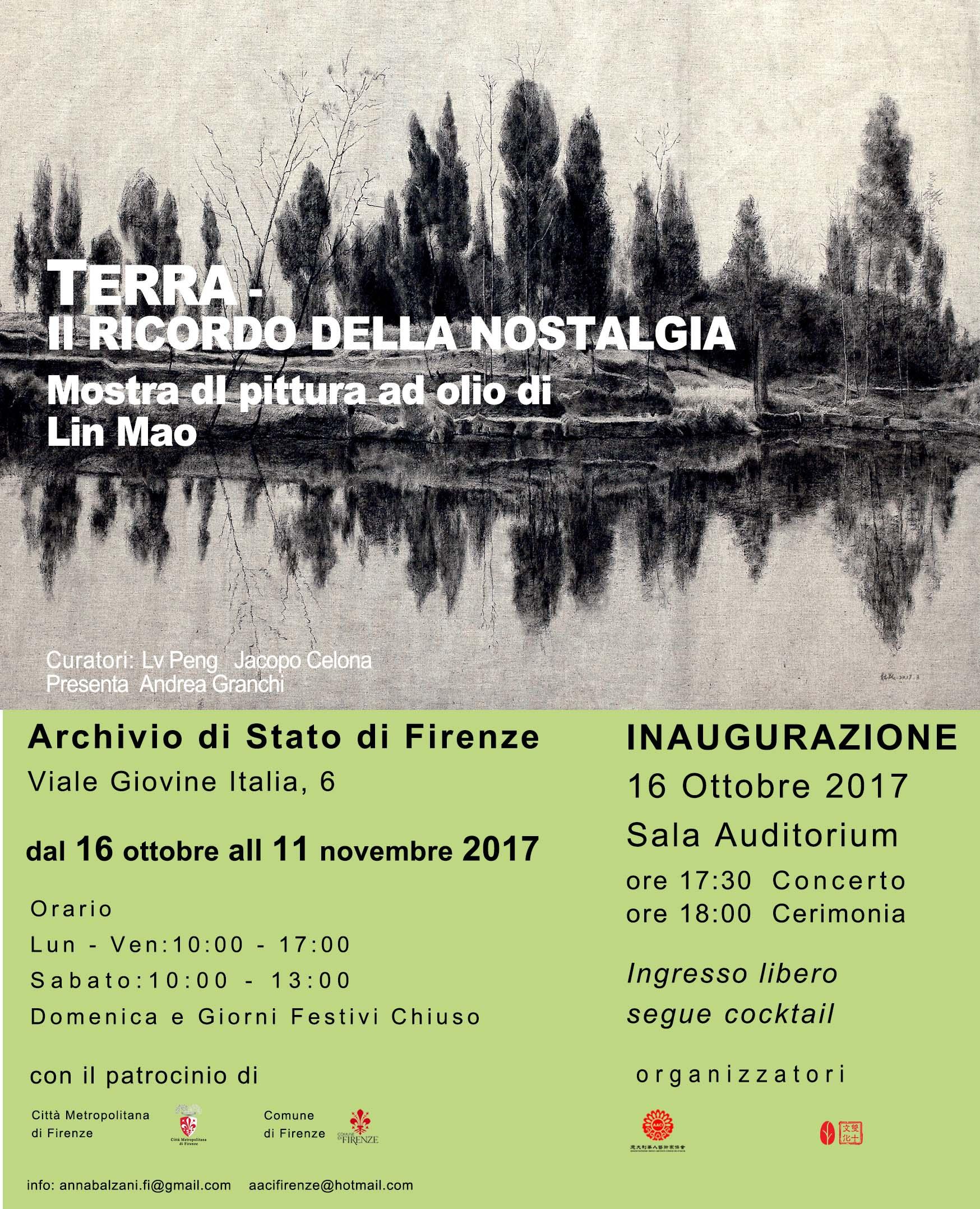 """Firenze, il 16 ottobre inaugurazione della mostra """"Terra: il ricordo della nostalgia"""""""