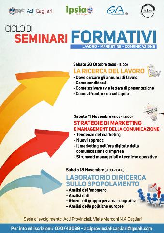 Ciclo di seminari su lavoro, marketing e comunicazione a Cagliari