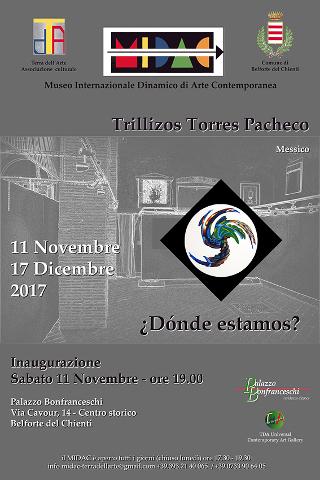 """""""¿Donde estamos?"""", mostra dei Trillizos Torres Pacheco a Belforte del Chienti"""