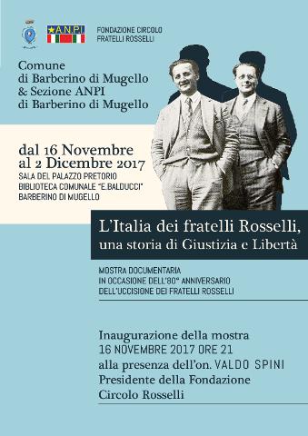 A Barberino di Mugello una mostra per ricordare i Fratelli Rosselli