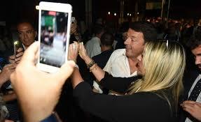 selfie con Renzi