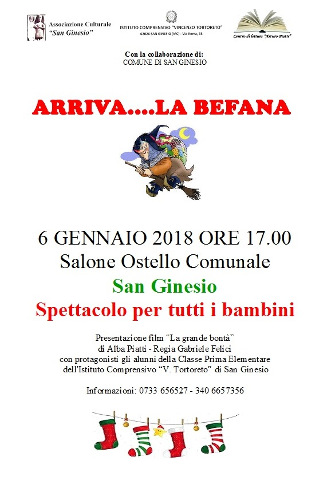 """Arriva…la Befana"" a San Ginesio"