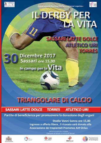 triangolare di calcio benefico a Sassari