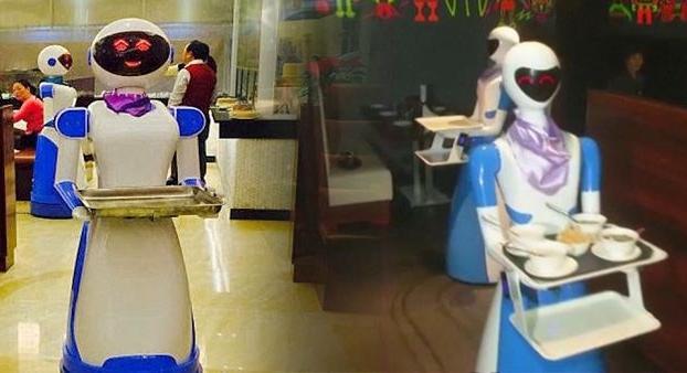 In India al ristorante le robot cameriere