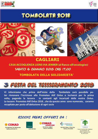 Tombolata solidale a Cagliari con la Prometeo