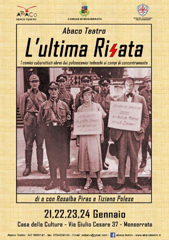 """""""L'Ultima Risata"""" di Abaco Teatro in scena nei giorni della memoria"""