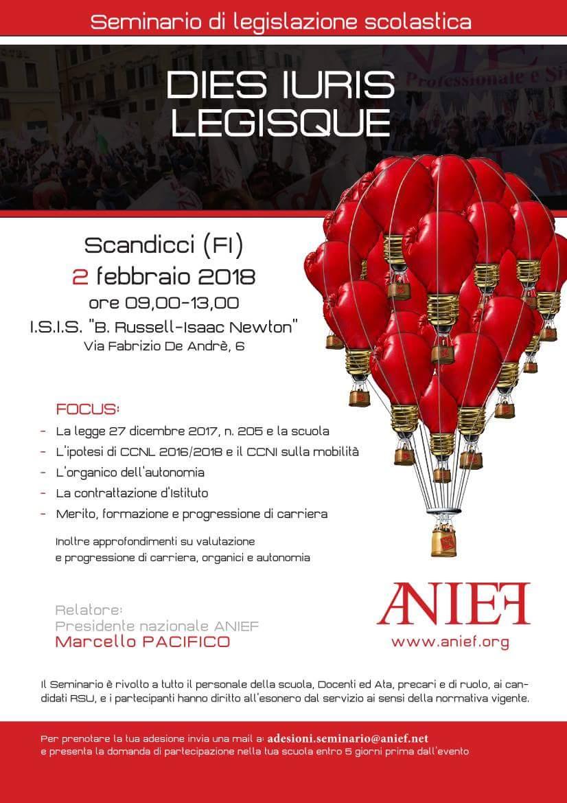 """""""Dies Iuris Legisque"""" seminario dell'Anief a Firenze. Pacifico: """"Dobbiamo costruire una scuola giusta, equa e solidale"""""""