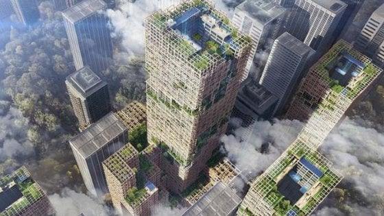 A Tokio in costruzione un grattacielo tutto di legno. Sarà il più alto al mondo e costerà 4,5 miliardi di euro