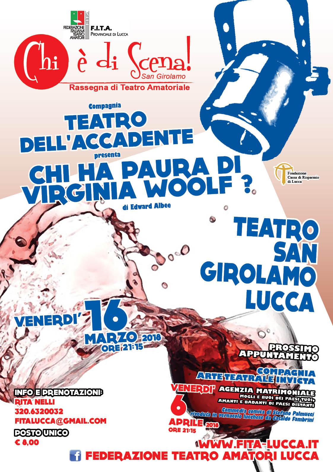 """""""Chi è di scena! San Girolamo 2018"""" rassegna teatrale a Lucca"""