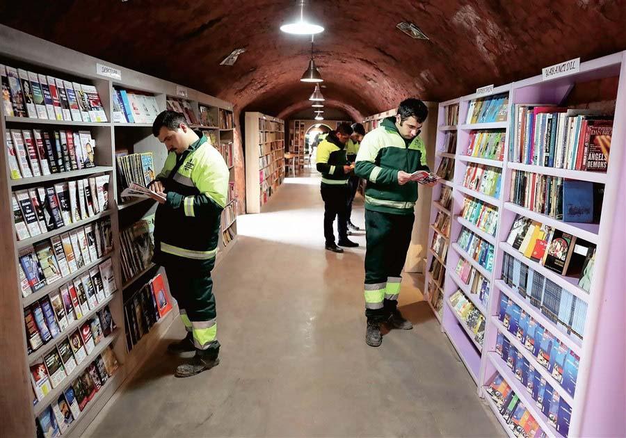 Ad Ankara è nata la biblioteca degli spazzini
