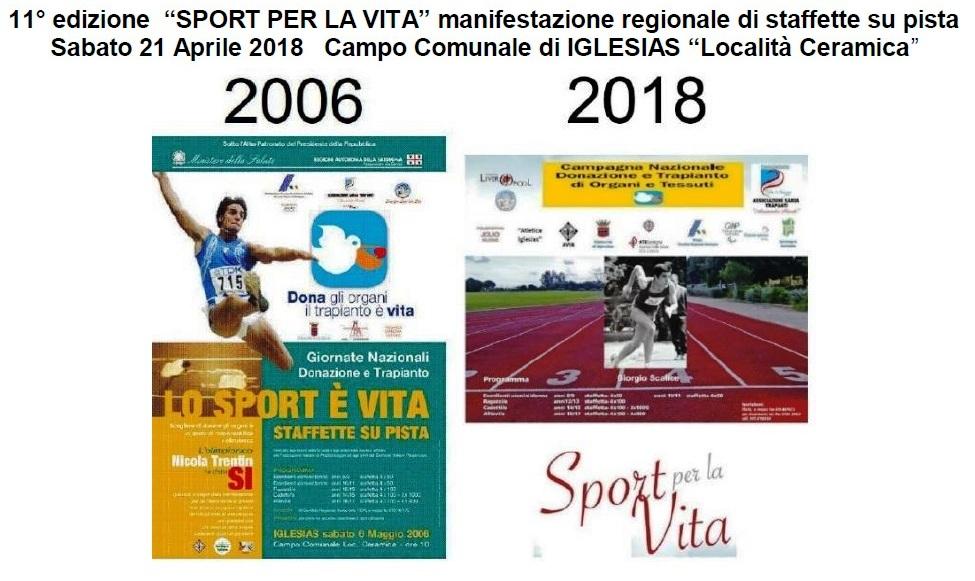 "Iglesias: XI edizione di ""SPORT PER LA VITA""manifestazione regionale di staffette su pista"