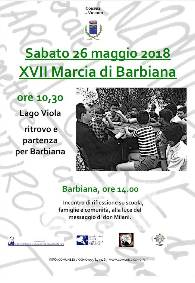 Vicchio di Mugello: Sabato 26 maggio XVII Marcia di Barbiana