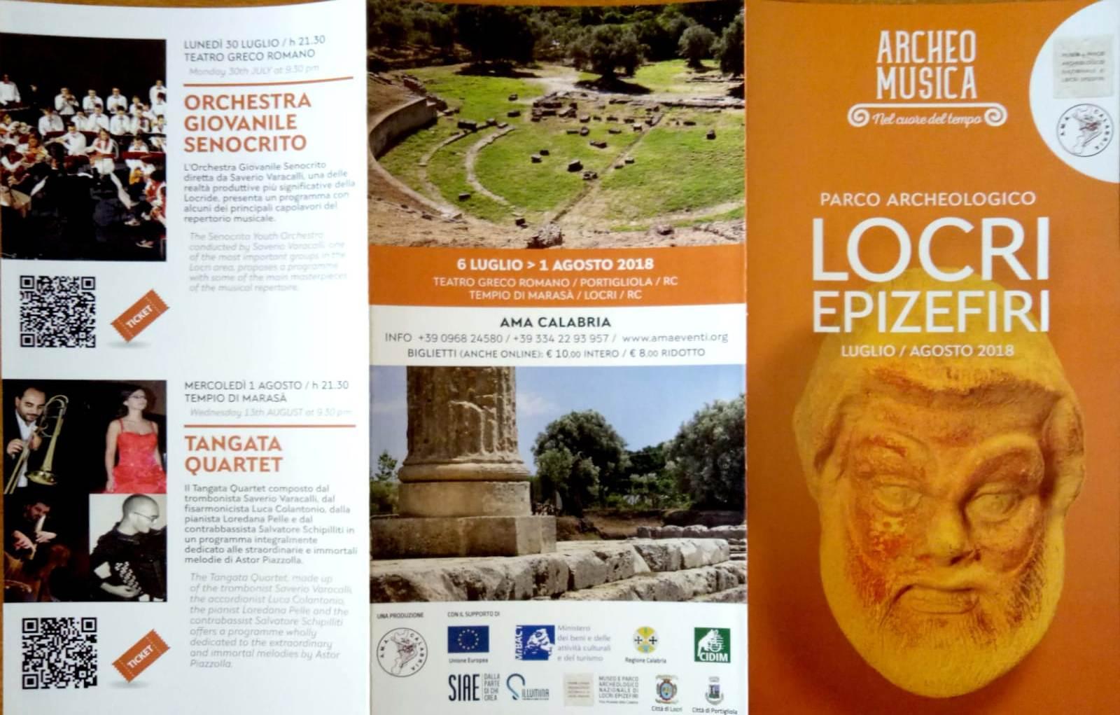 Appuntamenti musicali al Parco Archeologico Nazionale di Locri