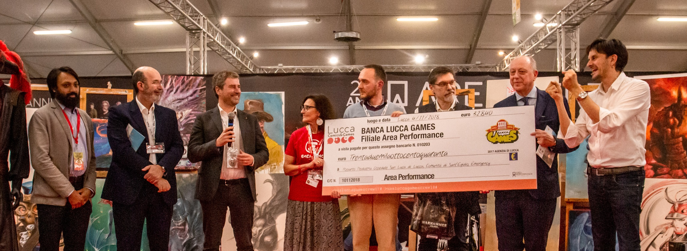Lucca Comics & Games 2018 Dall'Area Performance Onlus 32.840 euro in beneficenza