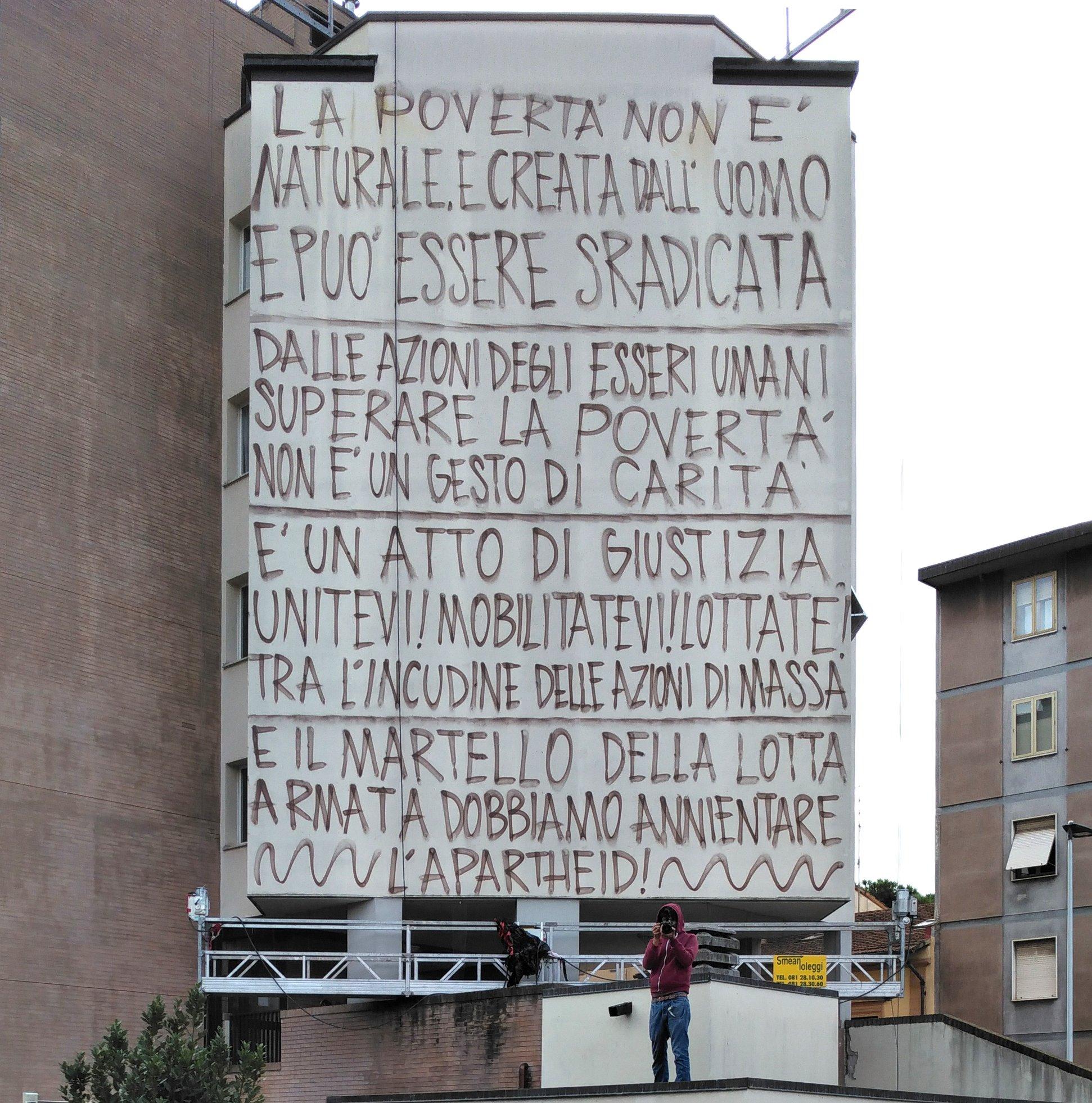 """Inaugurato """"Nelson"""" dell'artista Jorit. Dedicato a Nelson Mandela il più grande murale di Firenze"""
