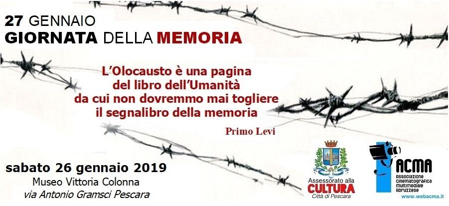 Pescara – Celebrazione GIORNATA DELLA MEMORIA 2019