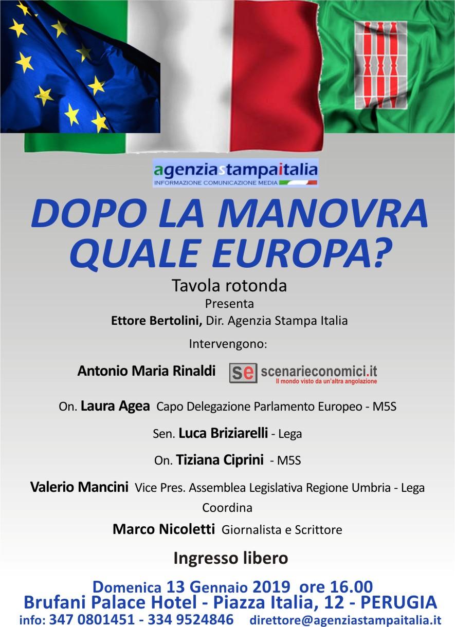 A Perugia si parla di manovra con Antonio Maria Rinaldi