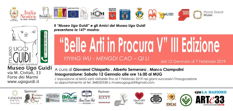 """Forte dei Marmi, al Museo Ugo Guidi il 12 gennaio 2019 ore 16.00, mostra delle allieve-artiste selezionate da """"Belle Arti in Procura"""""""