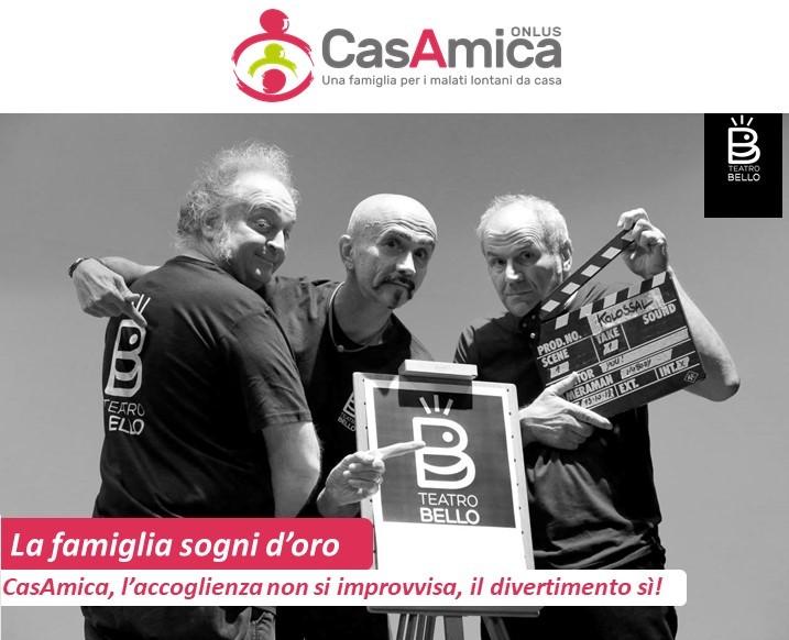 Milano: In scena lo spettacolo solidale di Teatro Bello in sostegno di CasAmica Onlus
